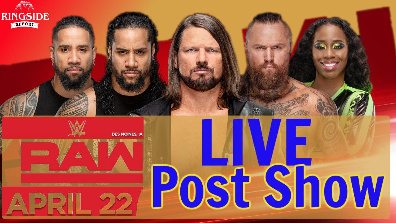 WWE Raw Post Shopw April 22 2019